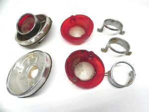 1964 Chevrolet Vintage Original Lot Used Tail Light Lens Housing Assembly Parts