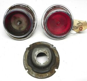 1965 Chevrolet Vintage Original Lot Used Tail Light Lens Housing Assembly Parts
