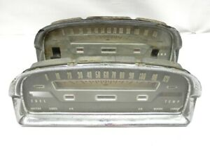 Pair 1959 Ford Dash Cluster Speedometer And Bezel Untested Restoration Ready