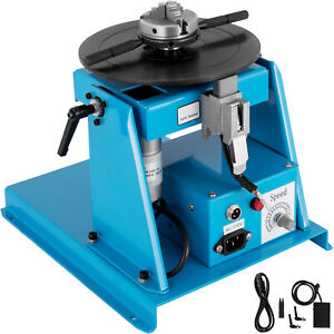 10kg Rotary Welding Positioner Turntable Table 2 5 3 Jaw Chuck 2 20 R min 110v