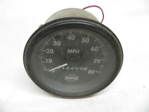 Vintage Isspro 80 Mph Speedometer Hot Rat Rod Truck Nice Hard To Find Untested