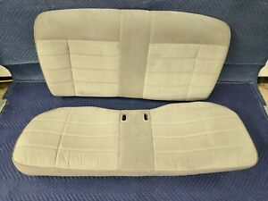 90 92 93 Ford Fox Body Mustang Coupe Rear Seat Set Titanium Gray Cloth 87 93 5 0