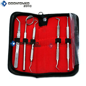 5 Set Stainless Steel Dentist Tool Hygiene Cleaning Tooth Dental Pick Kit Pr 298
