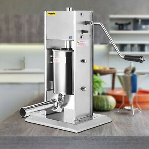 3l Manual Sausage Stuffer Maker Meat Filler Machine Stainless Steel Commercial