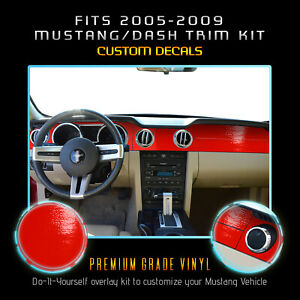 For 2005 2009 Ford Mustang Interior Dash Trim Precut Vinyl Kit Glossy Matte