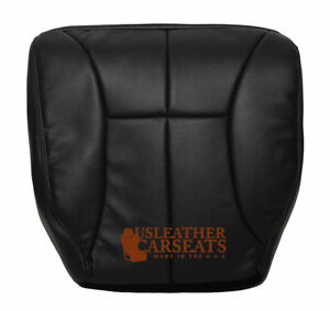 1999 2000 2001 Dodge Ram Driver Bottom Replacement Leather Seat Cover Dark Gray