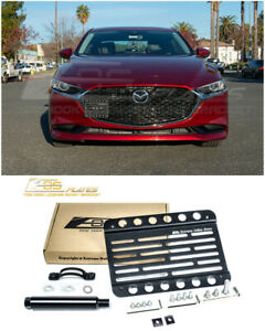 Eos For 19 Up Mazda 3 Front Bumper Tow Hook License Plate Relocator Bracket