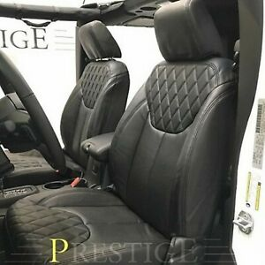 2013 2018 Jeep Wrangler Jk 4dr Black Syn Leather Custom Seat Covers