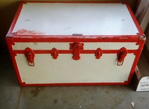 Vintage Antique Steamer Travel Trunk