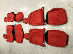 2013 2018 Jeep Wrangler Jk 4dr Red Diamond Syn Leather Custom Seat Covers