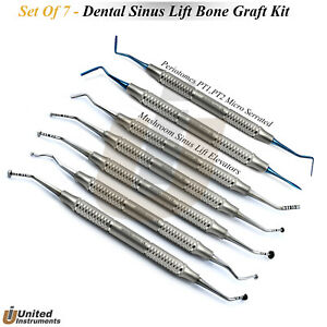 Dental Sinus Lift Elevators Mushroom Gum Lift Periotomes Tunneling Instruments