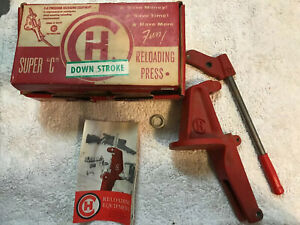 CH C&H Down Stroke Bullet Reloading Press Parts w Box & Instructions 1959 $85.00