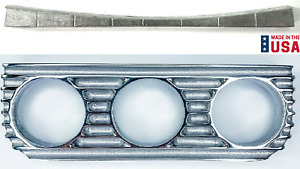 Finned Under Dash Triple 3 Gauge Panel W Mount For 1929 1932 Ford Polished