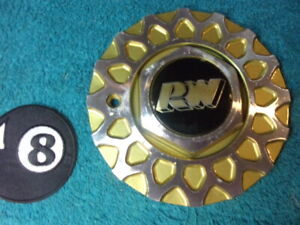 Rota Rw 6 1 4 Aluminum gold Custom Honeycomb Mesh Rim Wheel Center Cap Hub Bmw