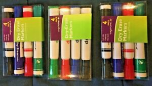 Lot Of Three Packs Of Dry Erase Markers Four 4 Pack Nib 12 Markers Total