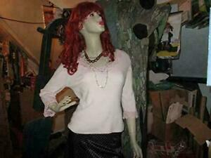 Antique 1940 s Full Size Women Mannequin Store Display 6ft tall