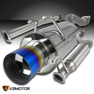 For 2006 2011 Honda Civic Si 2dr Coupe Exhaust Catback Burnt Tip Muffler