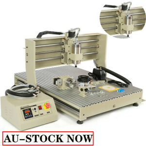 4 Axis 6090 Usb Cnc 1 5kw 2 2kw Router Engraver Sensor Mill drill Machine rc