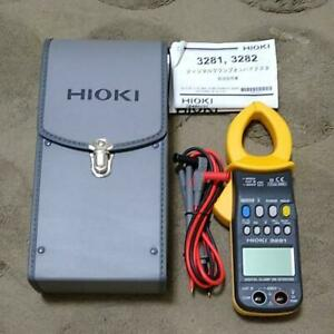 Hioki 3281 Digital Clamp On Meter Hitester 600a True Rms Trms Free Shipping