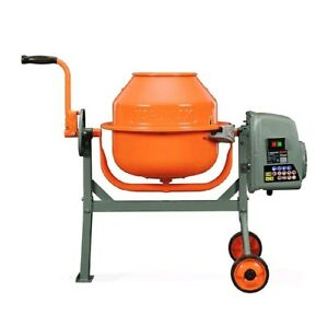 Electric Concrete Mixer Cement Mortar 1 6 Cu Ft Stucco Machine Construction New