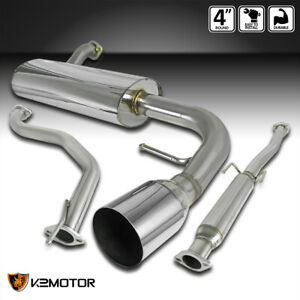 For 88 91 Honda Civic 3d Hatchback Full Muffler Catback Exhaust System 1998 1991