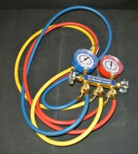 Yellow Jacket Test And Charging Manifold Gauges With Hoses