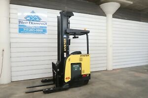 2013 Hyster N45zr2 Single Reach Truck Electric Forklift 272 Three Stage