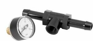 Top Quality Fuel Pressure Gauge With 3 8 Inline Adapter Carburated Engines