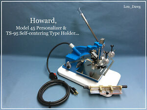 Howard Machine Personalizer Model 45 Type Holder Hot Foil Stamping Machine