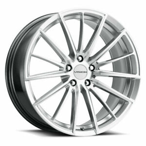 16 Vision 473 Axis Hyper Silver Machined Face Wheel 16x7 5 5x4 25 38mm Street