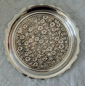 Towle Contessina E P Silverplate Silver Plate Tray Repousse Vintage 10 Roses