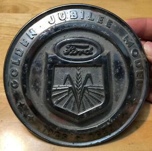 Vintage Ford Tractor Golden Jubilee 1903 1953 Front Badge 5 3 4 Corn Farmi
