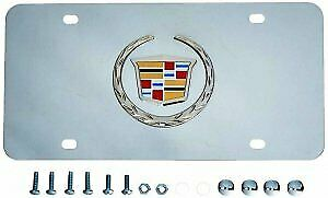 Cadillac Logo Stainless Steel License Plate