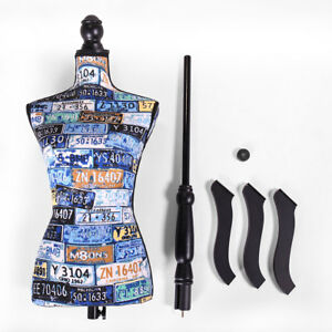 Female Mannequin Black Tripod Stand New Torso Clothing Dress Form Display