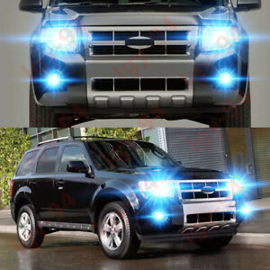For Ford Escape 2008 2012 4pc 8000k Led Headlights Fog Light Bulbs Kit Gj