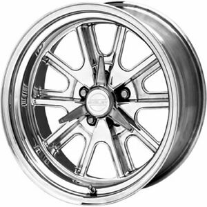 18x8 Polished Wheel American Racing Vintage Cobra Shelby Cobra 5x4 5 0