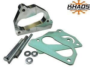Khaos Motorsports 2 Open Bore Throttle Body Spacer 87 95 Chevy 5 7l 5 0l 4 3l