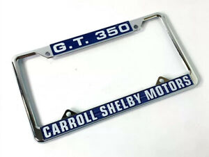 Chrome Metal License Plate Frame For Ford Mustang Gt350 Carroll Shelby Motors