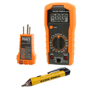 Klein Tools Electrical Test Kit With Multimeter Non contact Voltage Tester And