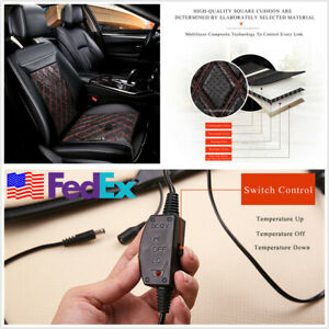 12v 24w Car Seat Heated Cushion Pad Winter Warm Vest Mat Switch Control Us Stock