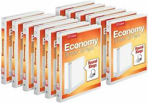 Cardinal Economy 3 ring Binders 1 2 Round Rings Holds 125 Sheets Clearvue Pr
