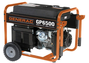 Gas Portable Generator Generac 5946 6500 120 240vac Recoil New Free Shipping