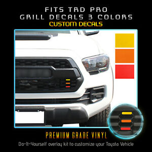 For 2016 2020 Toyota Tacoma Trd Pro Grill Decals Inlay 3 Colors X2 Flat Matte