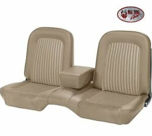 1968 Ford Mustang Front Rear Bench Seat Upholstery Parchment Made By Tmi