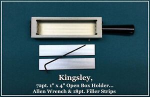 Kingsley Machine 72pt 1 X 4 inch Open Box Holder Hot Foil Stamping Machine