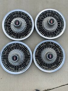 1967 Oldsmobile 14 Wire Wheel Hubcaps Wheel Covers 442 Cutlass F85 Starfire