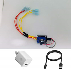Voice Control Your Fireplace 5 Volt Relay Switch Kit 12 Inch Micro Usb Cable New