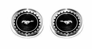 1969 Fastback Ford Mustang Roof Ornament Emblems Pair C9zz 6351720 R 69 11500
