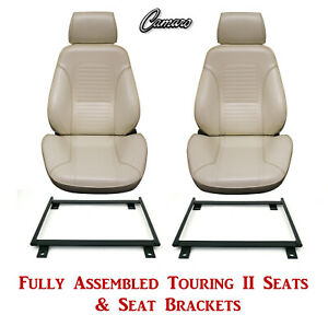 Standard Touring Ii Fully Assembled Seats Mount Brackets 1969 Camaro Any Color