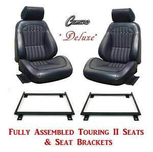 Deluxe Touring Ii Fully Assembled Seats Brackets 1969 Camaro Any Color